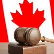 Gavel and Flag of Canada — Stock Photo