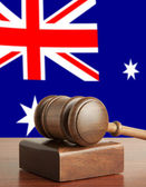 Gavel and Flag of Australia — Stock Photo