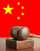 Gavel and Flag of China — Stock Photo