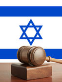 Gavel and Flag of Israel — Stock Photo