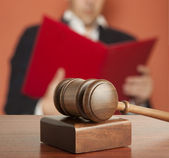 Gavel & male judge — Stock Photo