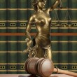 Gavel and Lady of Justice — Stock Photo #9743163