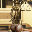 Gavel and Lady of Justice — Stock Photo