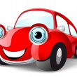 Funny red car - Stock Vector