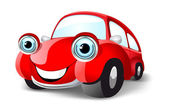 Funny red car — Stock Vector