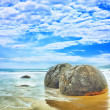 Stock Photo: Moeraki Boulders