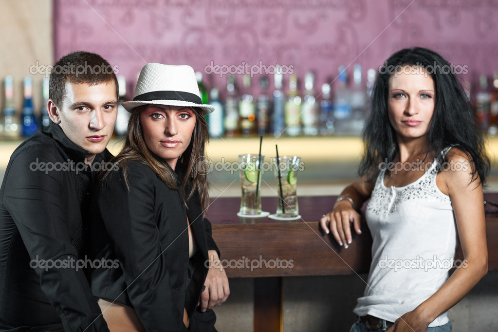 Fashion style photo of a in the bar — Stock Photo #10344724