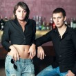 Couple in the bar — Stock Photo