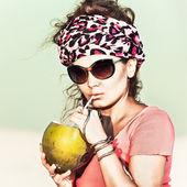 Bebida de coco — Fotografia Stock