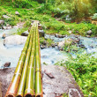 Bamboo bridge — Stock Photo