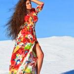 Woman in desert — Stock Photo #8889801