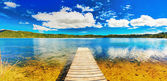 Lake panorama — Stock Photo
