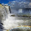 Iguassu Falls, view from Brazilian side - Stock Photo