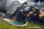 Montera fitz roy, patagonien, argentinaマウント フィッツ ロイ、パタゴニア、アルゼンチン — Stockfoto