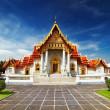 Marble Temple in Bangkok - Stock Photo