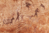 Pinturas rupestres do tassili n'ajjer, argélia — Fotografia Stock