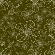 Royalty-Free Stock Vektorfiler: Vector seamless floral pattern