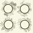 Set of vintage frames — Stock Vector #8668454