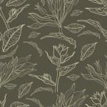 ベクトル シームレスなビンテージ花柄 — ストックベクタ