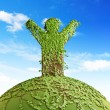 Stock Photo: Symbolic tree mon planet