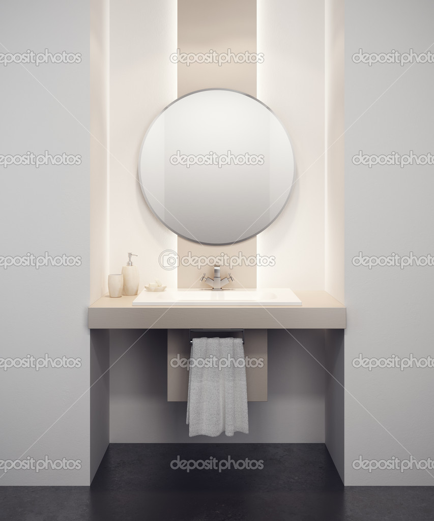 Modern bathroom interior 3d rendering — Stock Photo #9012651