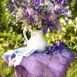 Stock Photo: Bouquet of irises and meadow