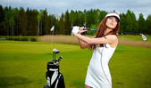 Womans golf — Foto Stock
