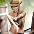 cowgirl sexy — Foto Stock