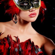 Beautiful woman with mask — Stock Photo #7972934