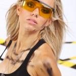 ouvrier du bâtiment de femme blonde sexy — Photo