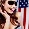 Stock Photo: Sexy american woman