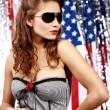 Sexy american woman — Stock Photo