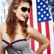 Sexy american woman - Stock Photo