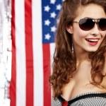 sexy donna americana — Foto Stock