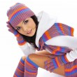 Winter fashion girl — Stock Photo