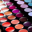 Close up of colorful eyeshadows — Stock Photo