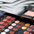 Stock Photo: Make-up colorful eyeshadow palettes