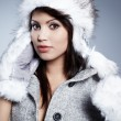 Stock Photo: Smiling Winter Woman