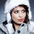 winter girl with beautiful make up — Stock Photo #8430051
