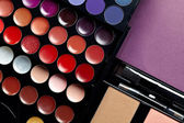 Make-up colorful eyeshadow palettes — Stock Photo