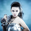 Royalty-Free Stock Photo: Warrior woman. Fantasy fashion idea.
