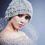 Winter Girl with beautiful make up — Stock Photo