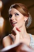 Elegant fashionable woman — Stock Photo