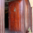 Wood door, Morocco — Stock Photo