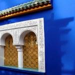 Window of Islamic museum in Jardine Majorelle, Marocco, Africa, — Stock Photo #8531152