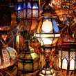 Lamps in a store in marrakesh morocco — Stock Photo