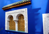 Window of Islamic museum in Jardine Majorelle, Marocco, Africa, — Stock Photo