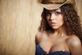 Sexy woman with cowboy hat — Fotografia Stock