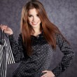 Beautiful woman with shopping bags - Foto de Stock