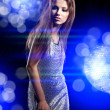 Beautiful dancing girl — Stock Photo #8568623